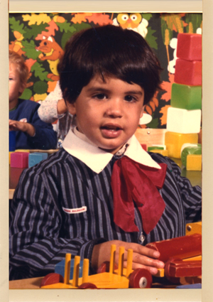 The artist at the age of 3 years
