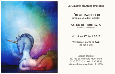 Group exhibition: Gallery Thuillier – Paris – France from 14 to 27 April 2017