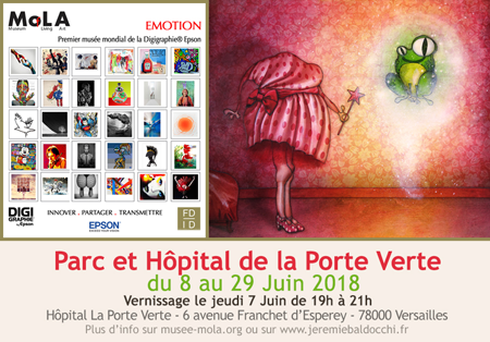 Group exhibition: Mola Museum Park and Hospital of the « Porte Verte » FRANCE from 8  to 29 june 2018