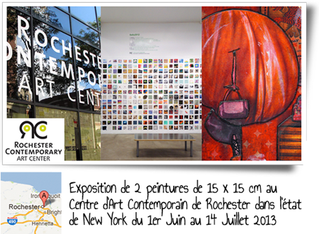 Group exhibition: Rochester Contemporary Art Center's  –  New York – USA from June 1 to July 14, 2013