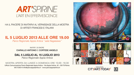 Group exhibition: Art fair Art'spirine – Roma – Italy from 5 to 15 July 2013
