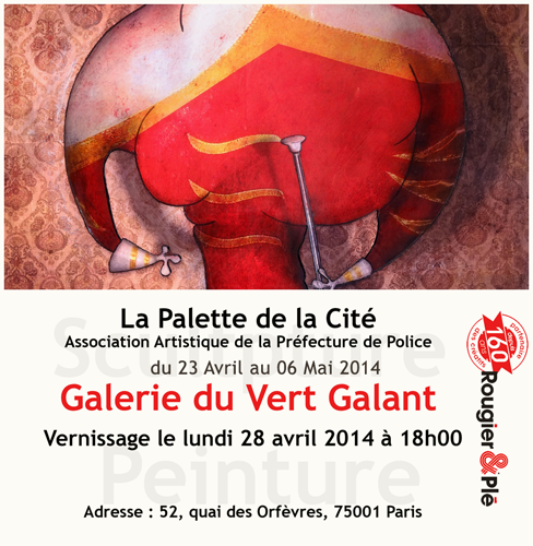 Group exhibition: Gallery du Vert Galant in Paris – France from 23 April to 6 May 2013