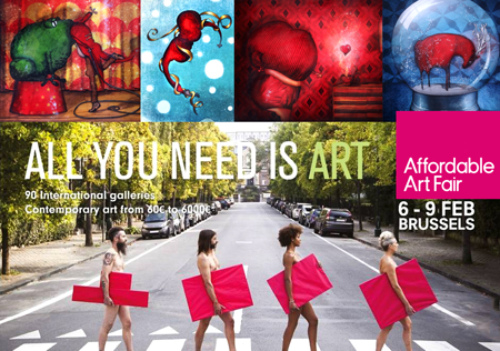 Group exhibition: Affordable Art Fair – Brussels – Belgium from 5 to 9 February 2015