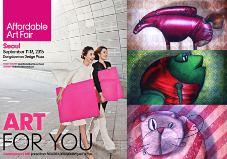 Group exhibition: Affordable Art Fair – Seoul – South Korea from 11 to 13 September 2015