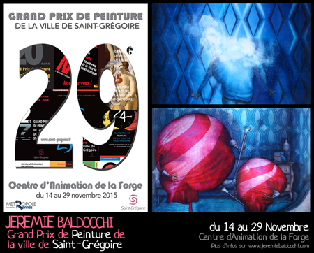 Group exhibition: Painting Prize of Saint-Grégoire – France from 14 to 29 November, 2015