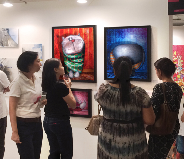 Contemporary art painting exhibition Affordable Art Fair in Singapore, Asia