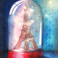 Artwork:Paris under glass