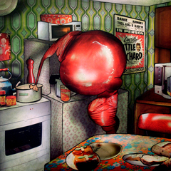 Artwork:Vinyl in the kitchen