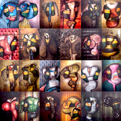 Artwork:30 celebrities 30 years Fnac Forum (Paris)