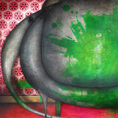 Artwork: Elephant painted green