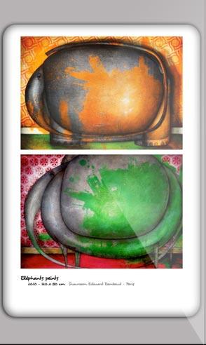 Art portfolio of the painter Jeremie Baldocchi French version in PDF format
