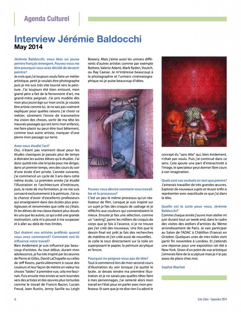 Interview contempory artist painter