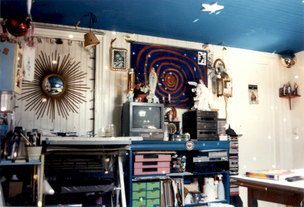 Artist workshop of the contemporary painter Jérémie Baldocchi from 1994 to 1997