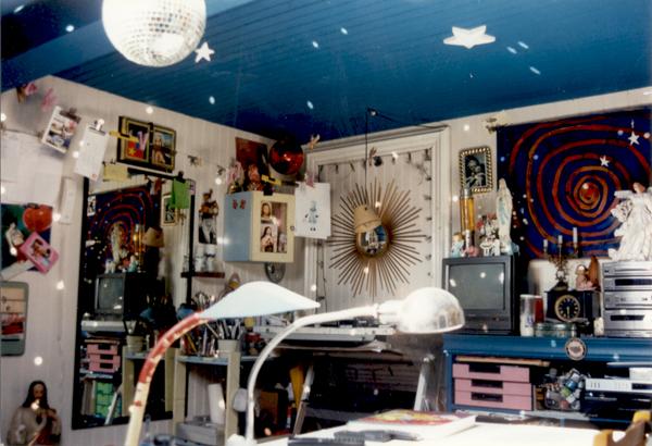 Artist workshop of the contemporary painter Jérémie Baldocchi from 1994 to 1997