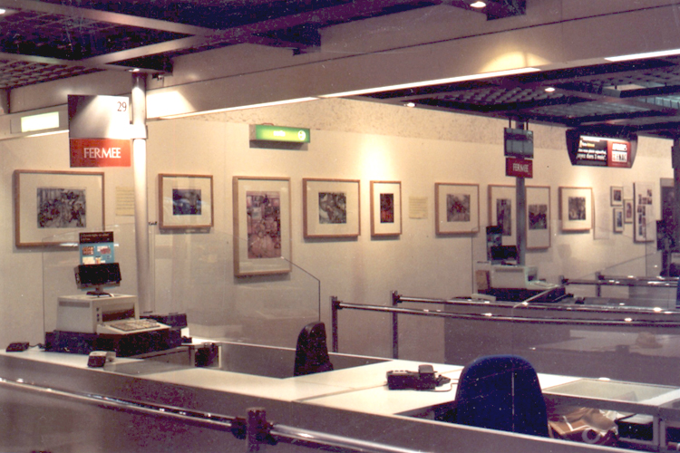 Solo exhibition Fnac Forum des Halles – Paris – France  from 07 January to 3 February 2003