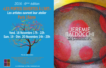 Group exhibition: Group exhibition with Seiziem'Art artists – Paris – France from November15 to December 01,  2016
