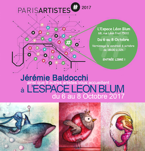 Group exhibition: Art space Léon Blum – Paris – France from 6 to 8 October 2017