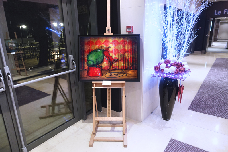 Solo exhibition Crowne Plaza Hotel  Paris – FRANCE from 06 to 31 December 2017