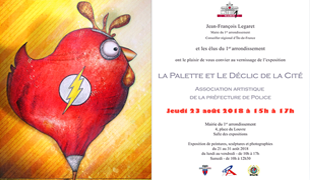 Group exhibition: City Hall's 1st district – Paris – France from 21 to 31 August 2018