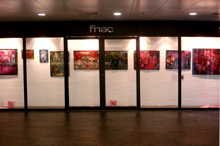 Solo exhibition Fnac Forum des Halles – Paris – France  from 11 to 30 December 2006
