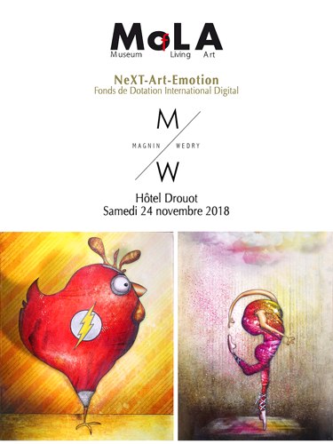 Group exhibition: Auction at the Drouot auction house the November, 24 2018