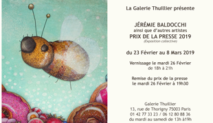 Group exhibition: Press Prize – Gallery Thuillier – Paris to 23 febrary to 08 March 2019