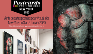Group exhibition: Sale of artist's postcard – Visual Aids – New York – USA from 03 to 05 Jannary 2020