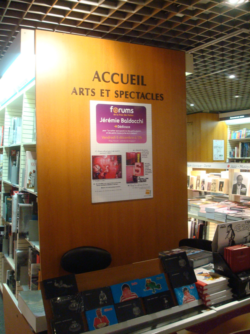 Solo exhibition Fnac Forum des Halles – Paris – France in December 2007