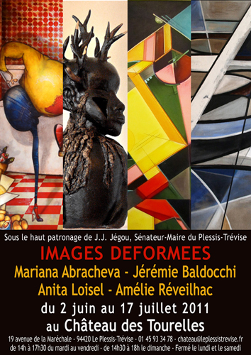 Group exhibition: Tourelles Castle – Le Plessis-Trévise – France from 02 June to 17 July 2011