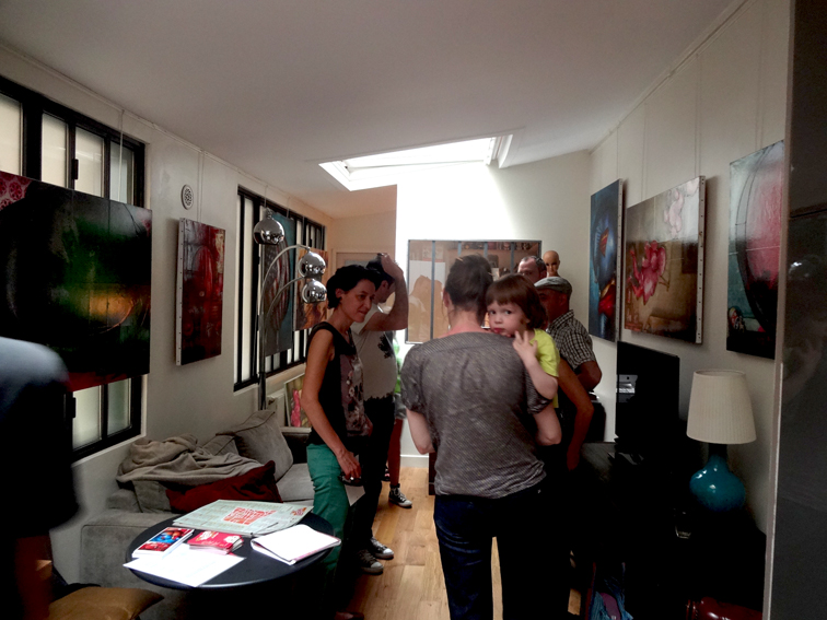 Solo exhibition Open artists' studios in the district of Goutte d'Or 2013 – Paris – France June 15 and 16, 2013