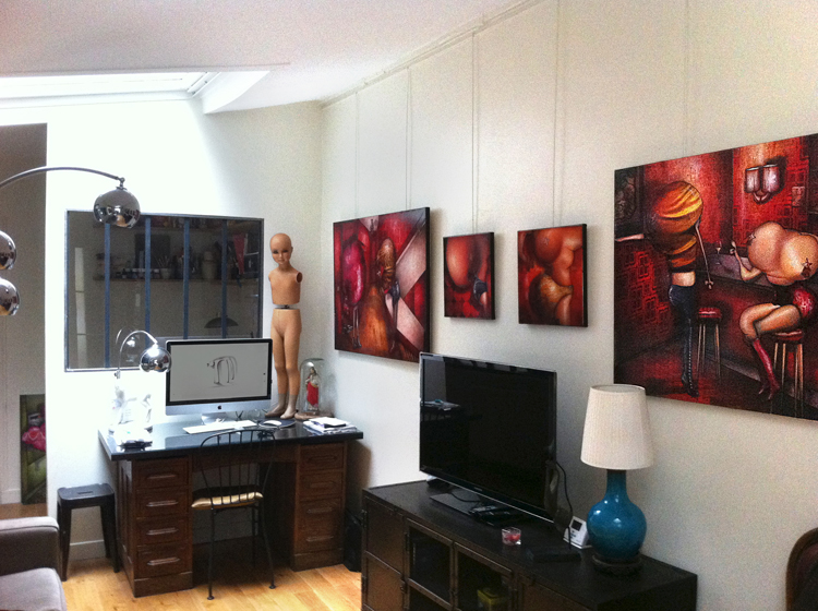Solo exhibition Open artists' studios in the district Abbess – Paris – France November 15 and 16, 2013