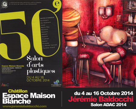 Group exhibition: ADAC – Châtillon – France from 04 to 16 October 2014