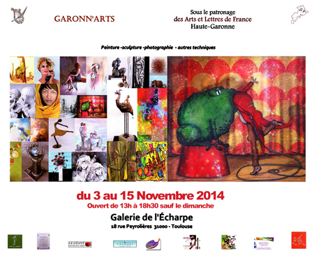 Group exhibition: Gallery L'Echarpe – Toulouse – France from 03 to 08 November 2014