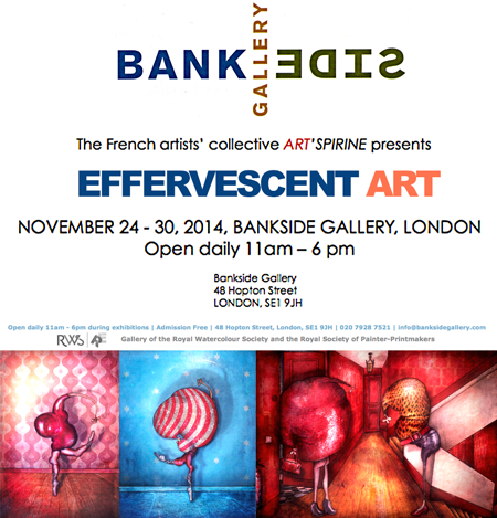 Group exhibition: Bankside Gallery – London – England from 24 to 30 November 2014