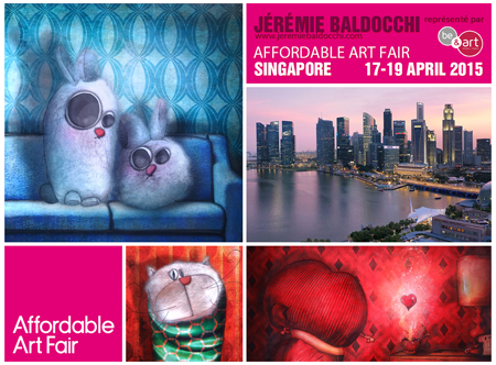 Group exhibition: Affordable Art Fair – Singapore – Asia from 17 to 19 April 2015