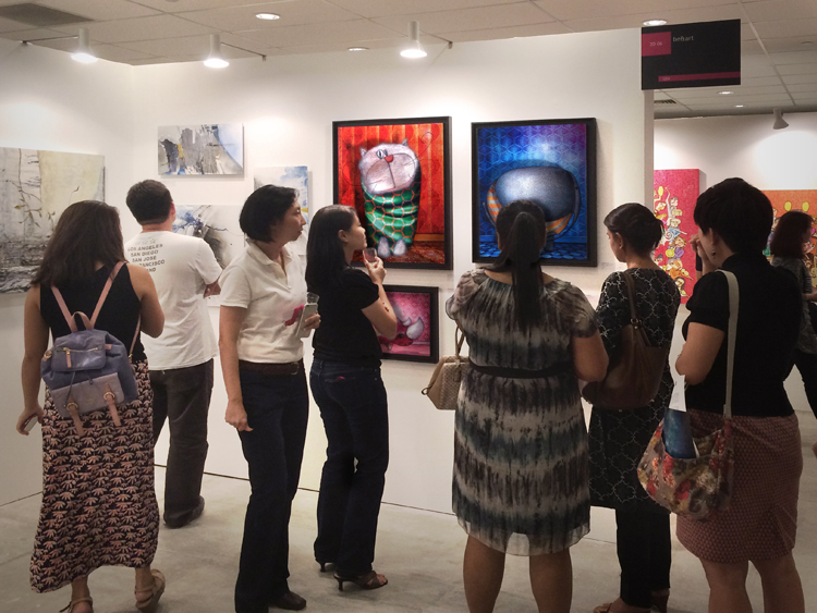 Group exhibition Affordable Art Fair – Singapore – Asia from 17 to 19 April 2015