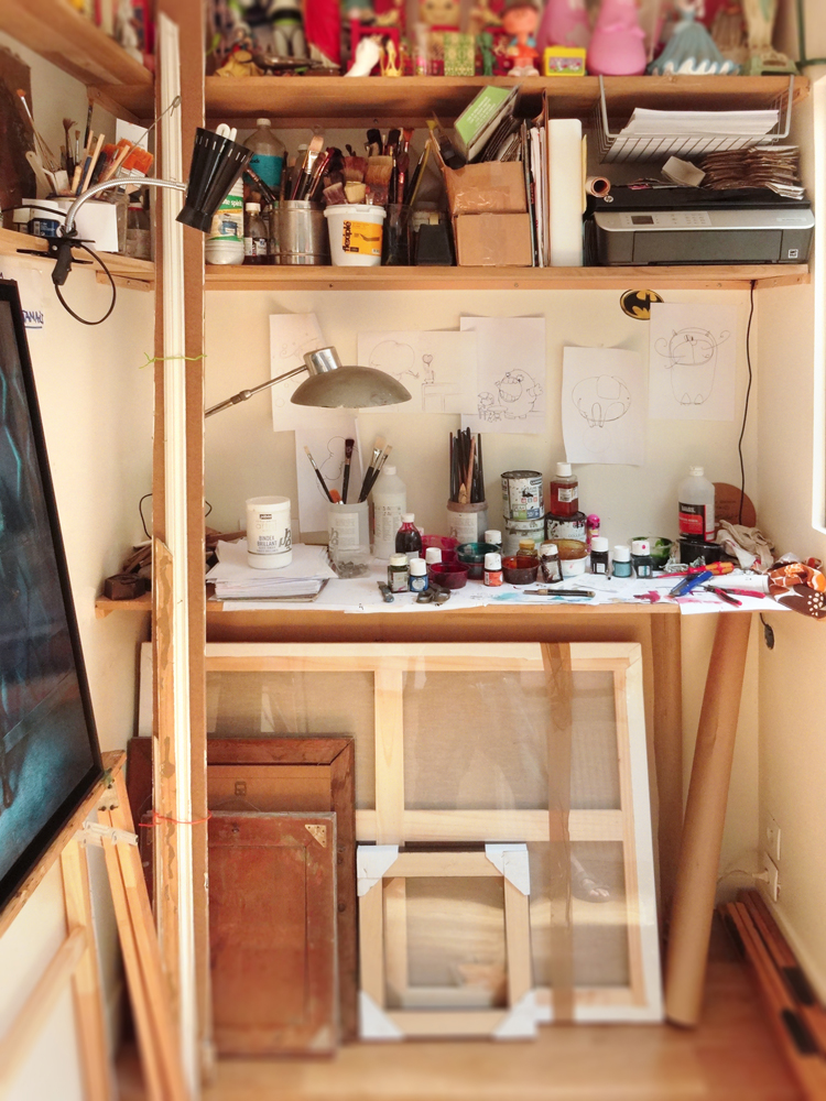 Solo exhibition Open artists' studios in the district of Goutte d'Or 2015 – Paris – France June 13 and 14, 2015