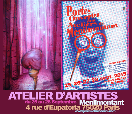 Group exhibition: Group exhibition with Ménilmontant artists – Paris – France from 25 to 28 September, 2015