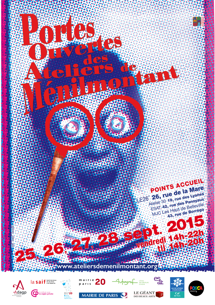 Group exhibition Group exhibition with Ménilmontant artists – Paris – France from 25 to 28 September, 2015