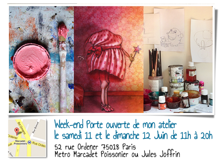 Solo exhibition: Open doors of my workshop 2016 – Paris – France June 11 and 12, 2016
