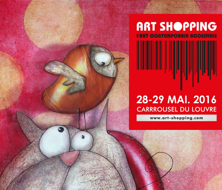 Group exhibition: Artfair Art Shopping – Paris – France May 28 and 29, 2016