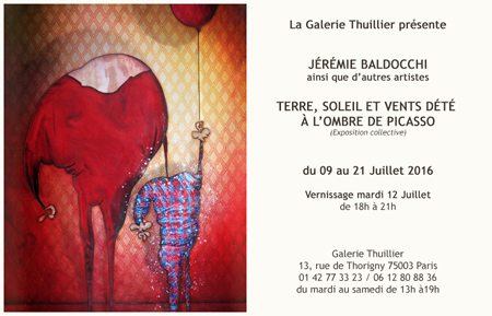 Group exhibition: In the manner of Picasso – Gallery Thuillier – Paris from 9 to 21 July 2016