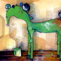 Artwork:Painted horse (green)
