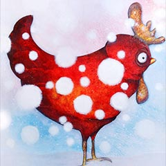 Painting: Snow hen