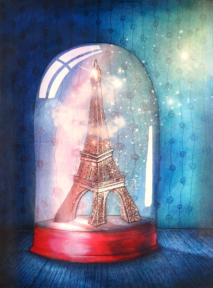 Artwork: Paris under glass