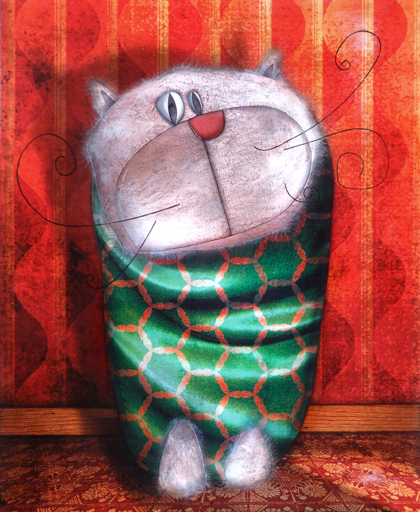Artwork: Evening cat