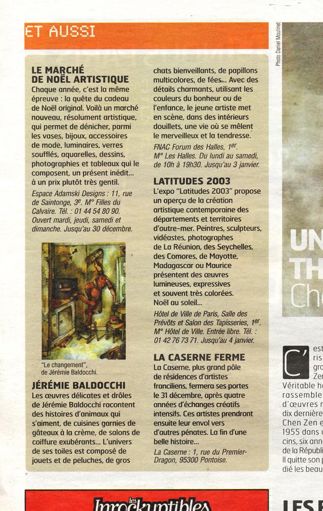 Press article in a newspaper A nous Paris