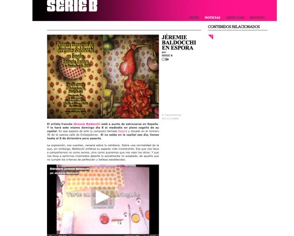 Spanish website Serie B