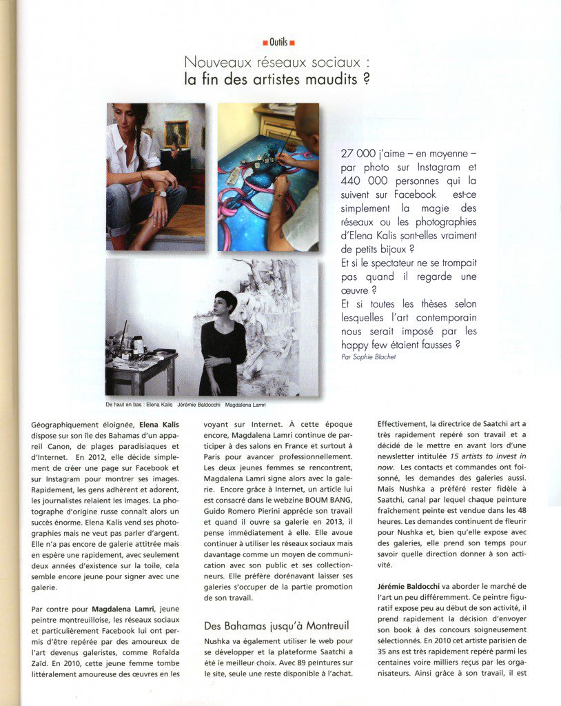 magazine art contemporain artention page 2