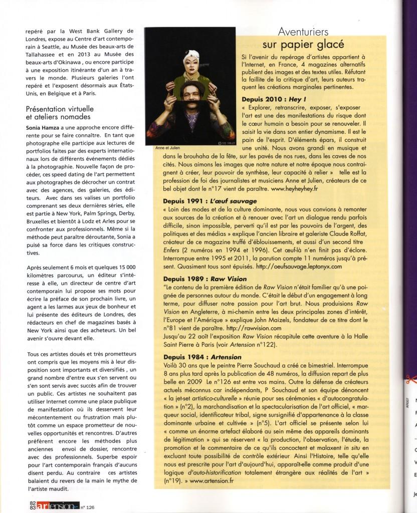 Contemporary art magazine artention
